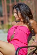 Дениз Милани, фото 5596. Denise Milani Sunbathing in pink :, foto 5596